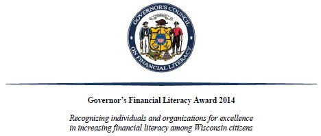 nomination form for the 2014 Governor's Financial Literacy Award
